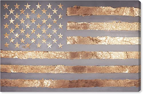 The Oliver Gal Artist Co. Maps and Flags Wall Art Canvas Prints 'Rocky Freedom' Home D cor