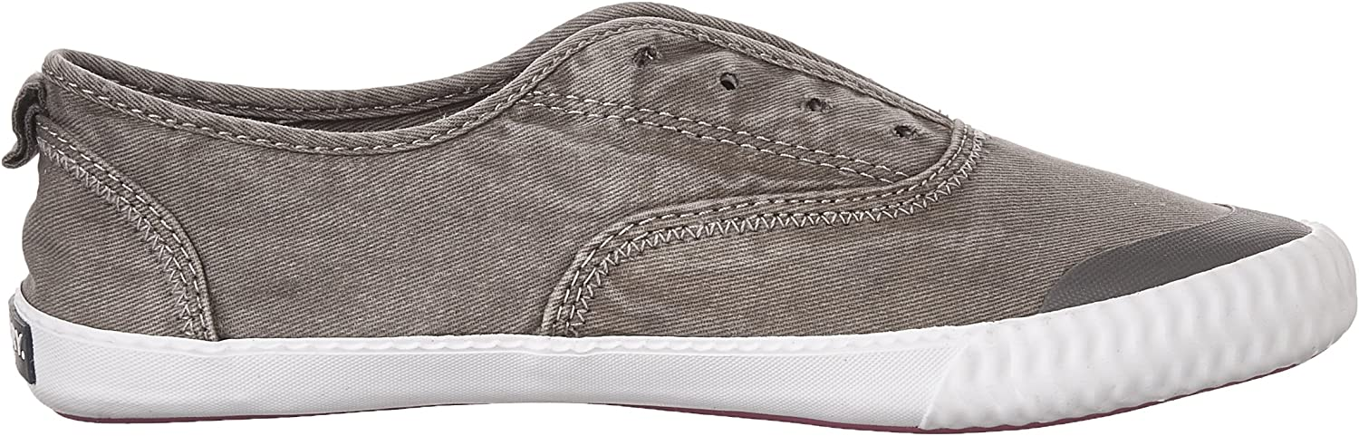 Sperry Women's Sayel Clew Washed Canvas Sneaker Grey