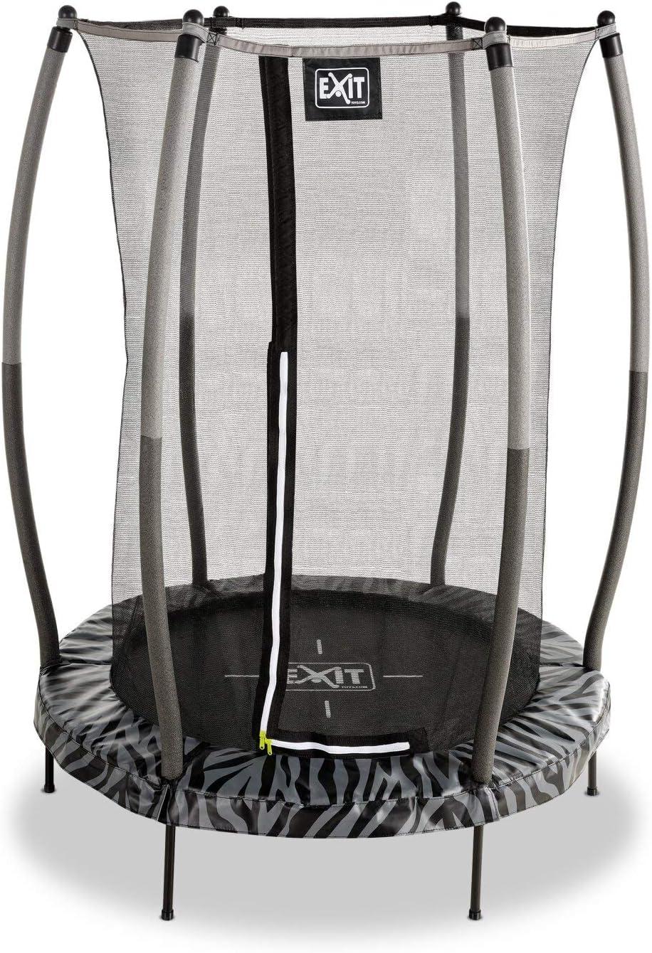 EXIT Tiggy Junior Trampoline 140cm Noir avec Filet de securite