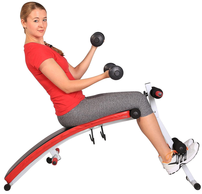 SportPlus Banco de Sentadillas - Banco Plegable Fitness - Incluye 2 Mancuernas de 1.5 Kg - Plegable: Amazon.es: Deportes y aire libre
