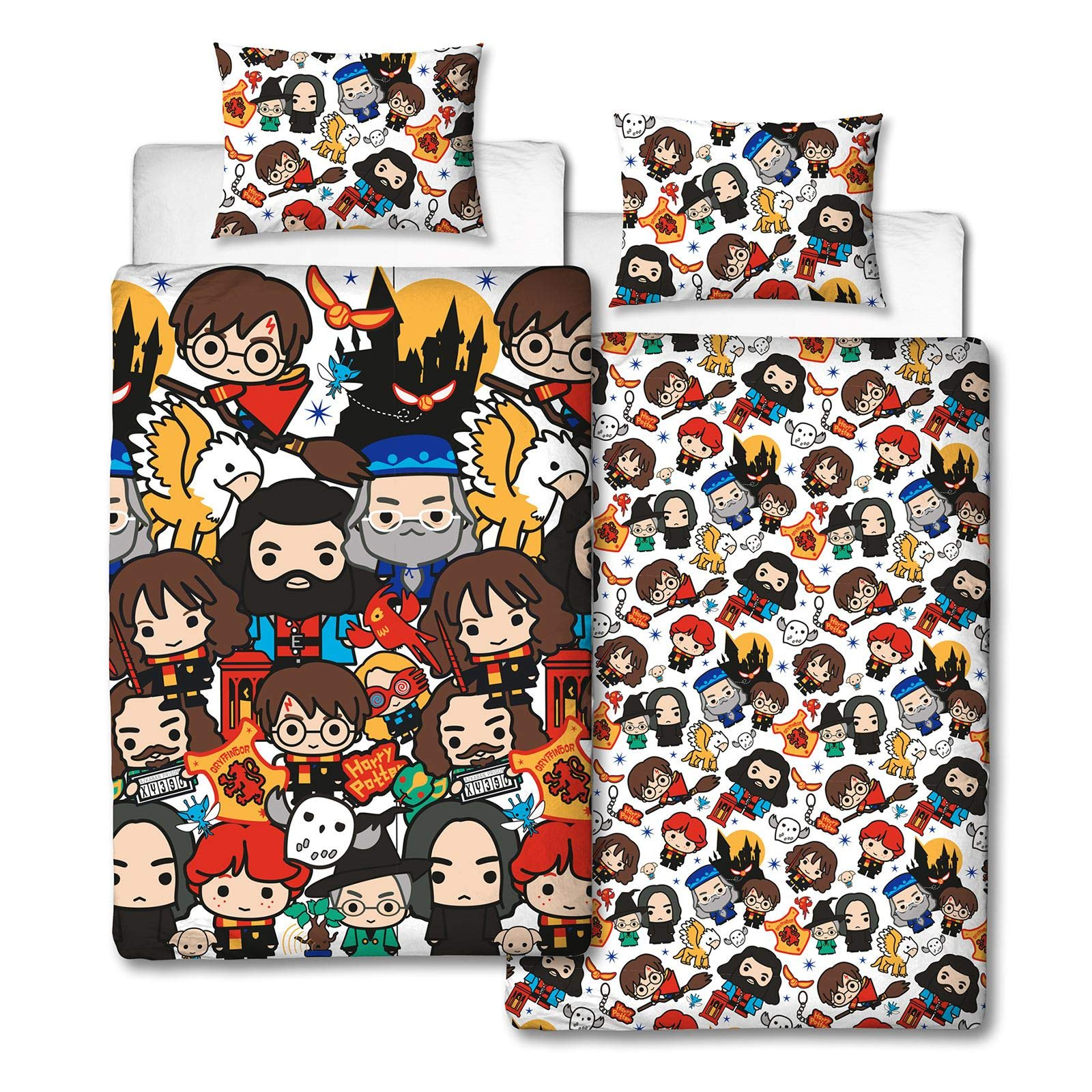 Harry Potter Charm UK Single/US Twin Unfilled Duvet Cover and Pillowcase Set