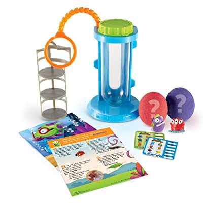 Learning Resources Beaker Creatures Magnification Chamber Science Activity Set, Homeschool, 10 Pieces with 2 Creatures, STEM, Ages 5+: Toys & Games