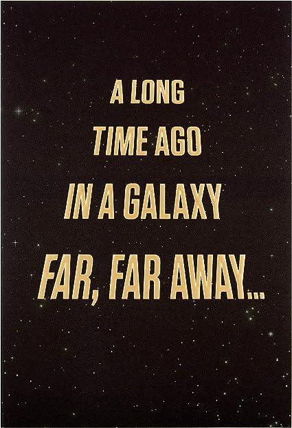 Hallmark Carte D Anniversaire Motif Star Wars Amazon Fr Fournitures De Bureau