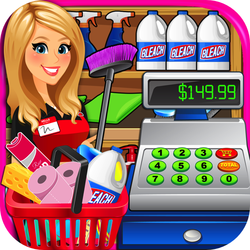 Supermarket Superstore Cash Register Simulator - Grocery Store Cashier Kids Fun Games - Mall Rich