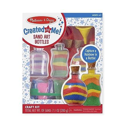 Melissa Doug Sand Art Bottles Craft Kit 3 Bottles 6 Bags Of Colored Sand Design Tool