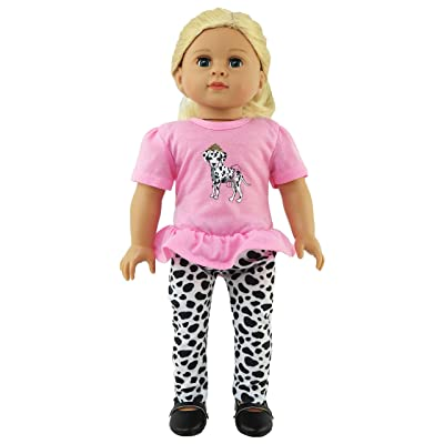 "Dalmatian & Pink Pant Set - Fits 18"" American Girl Dolls, Madame Alexander, Our Generation, etc. 