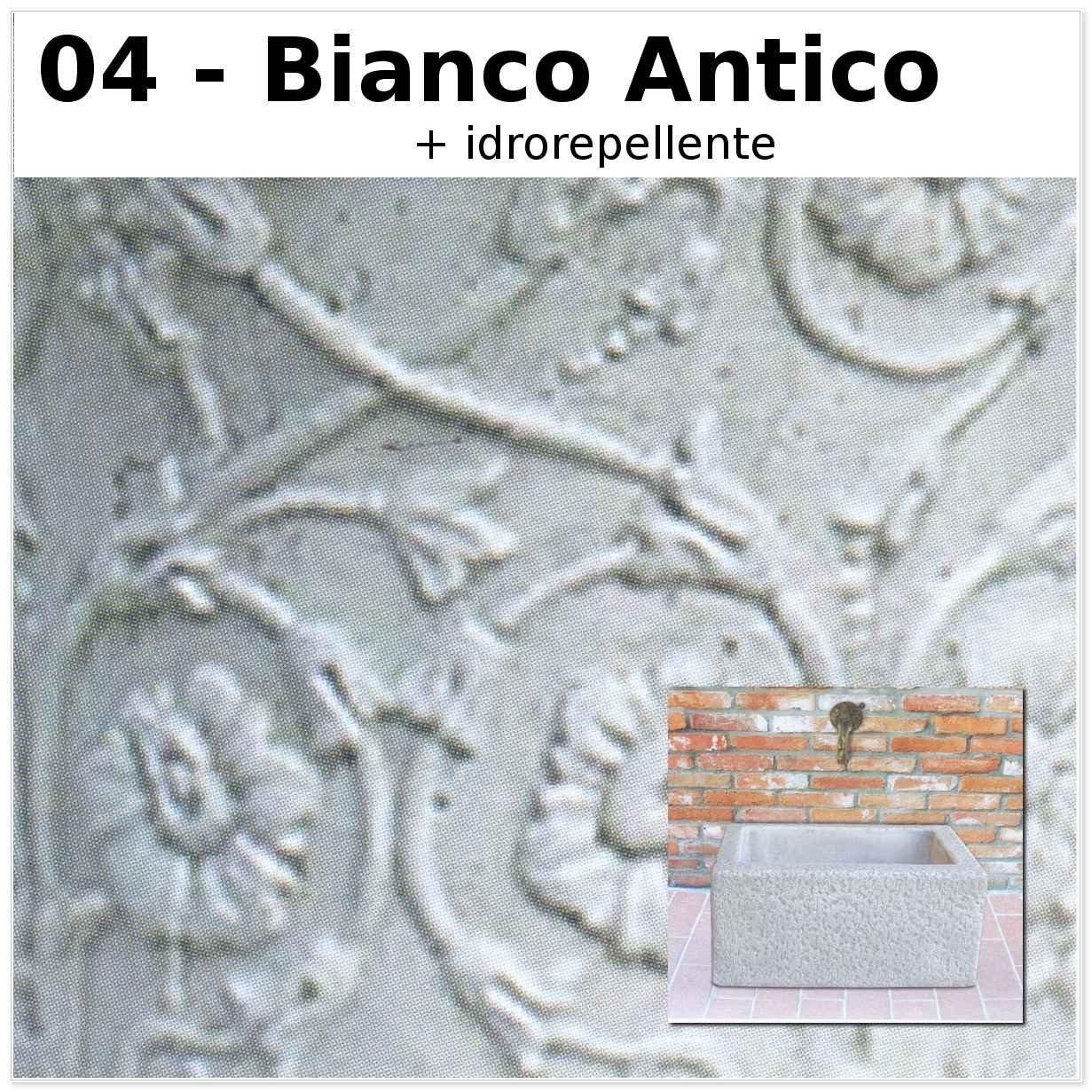 FONTANA A MURO TEMÙ CM64X44X29H BIANCO ANTICO MARMORIZZATO