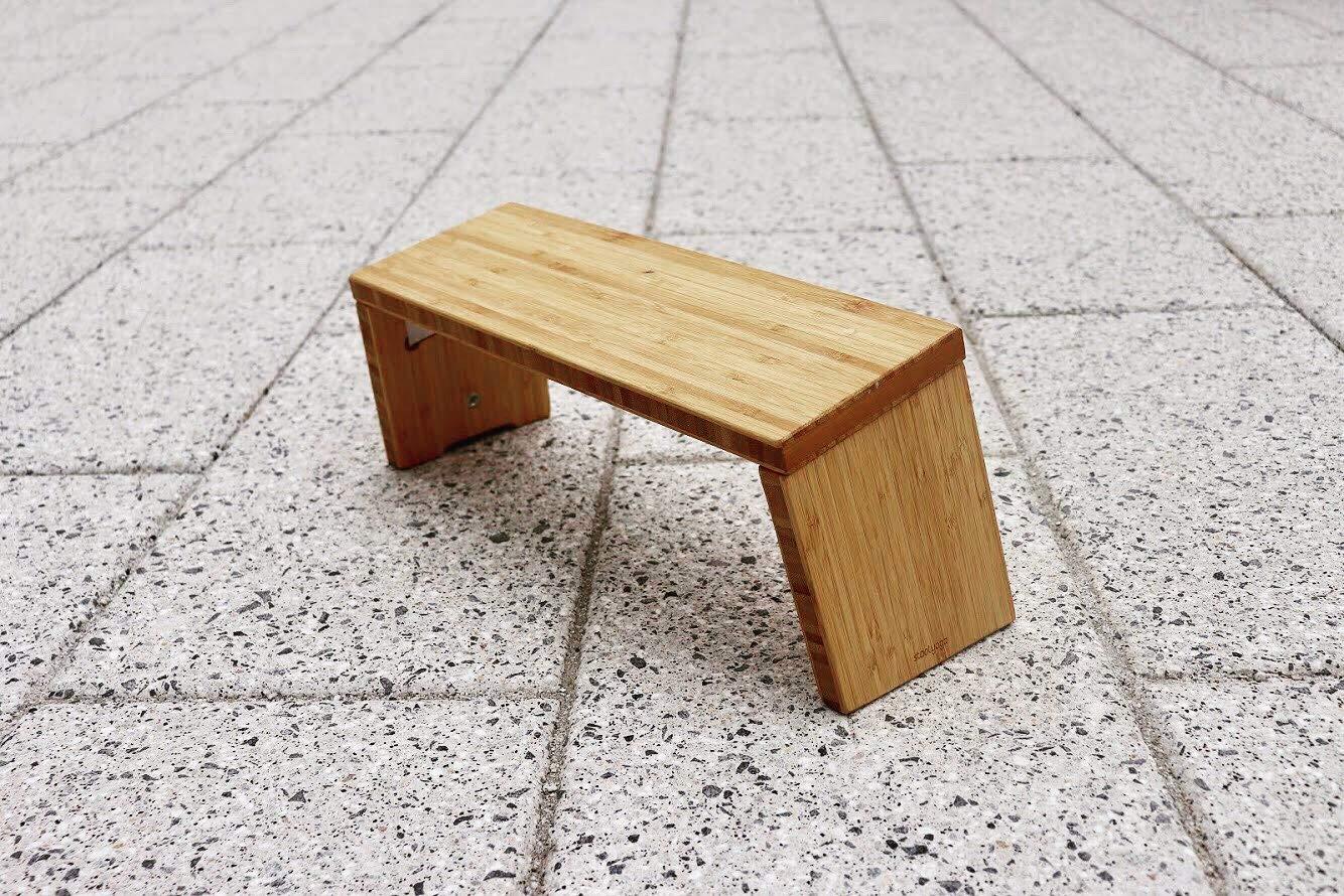 STOOLYOGA Portable Meditation Bench, Finished Bamboo, Folding Legs, Low Seat, Kneeling Alternative to Meditation Cushion for Yoga, Prayer, and Meditation - Made in USA by STOOLYOGA