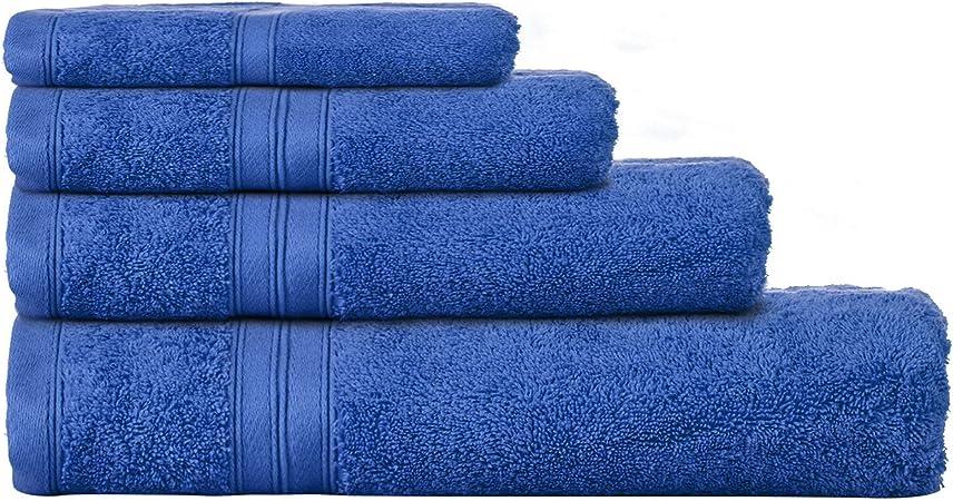 Home collection Royal azul toallas de algodón egipcio, algodón egípcio, azul cobalto, Toalla de baño: Home ...