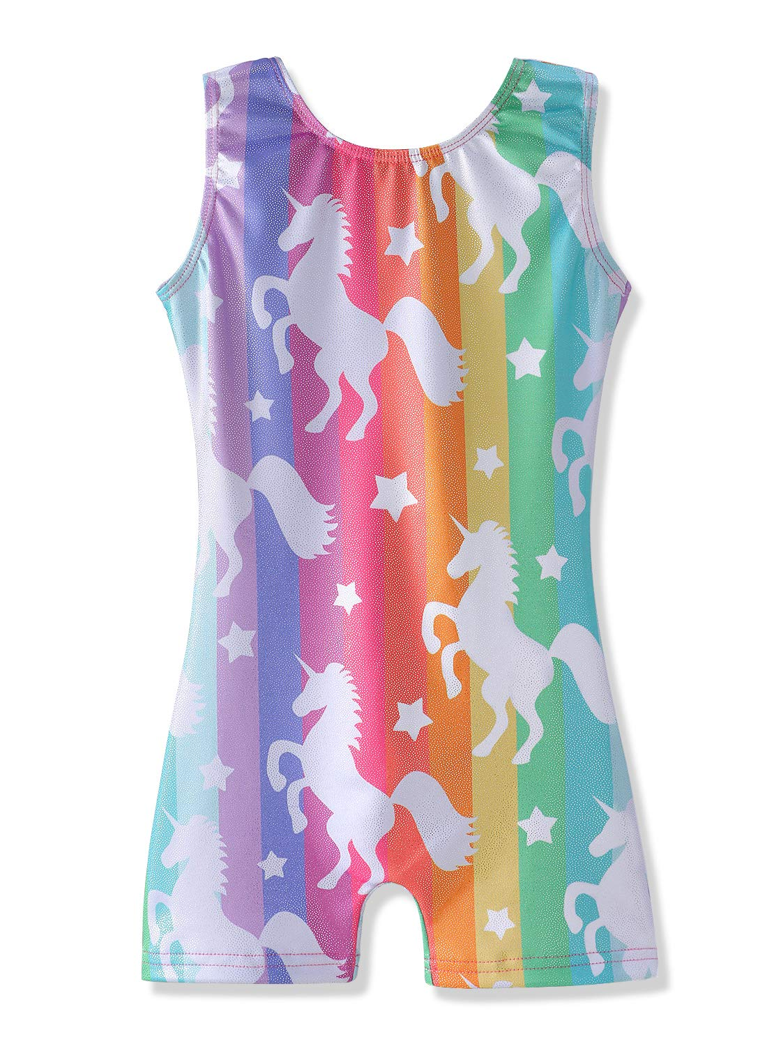 HOZIY Gymnastics Leotards for Girls with Shorts Size 6-7 Years Old Sparkly Dancewear by HOZIY
