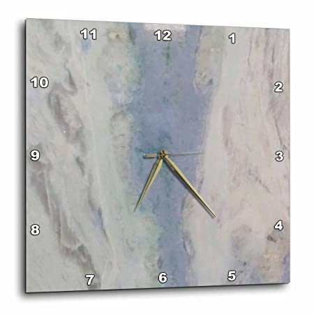 3D Rose Image of Gray and Blue Granite Wall Clock, 13 x 13
