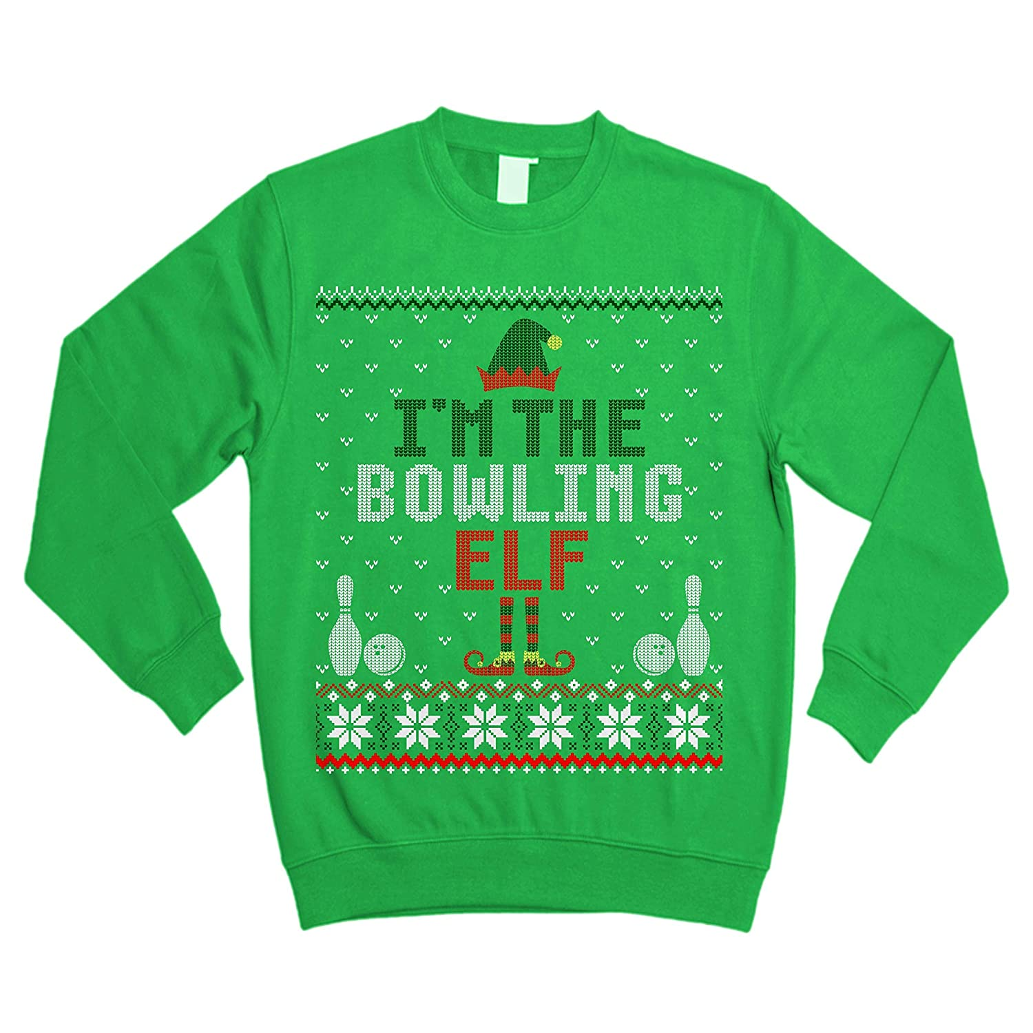 buy online a3bb6 ef176 Black I'm The Bowling Elf Funny Funny Funny Christmas Ugly ...