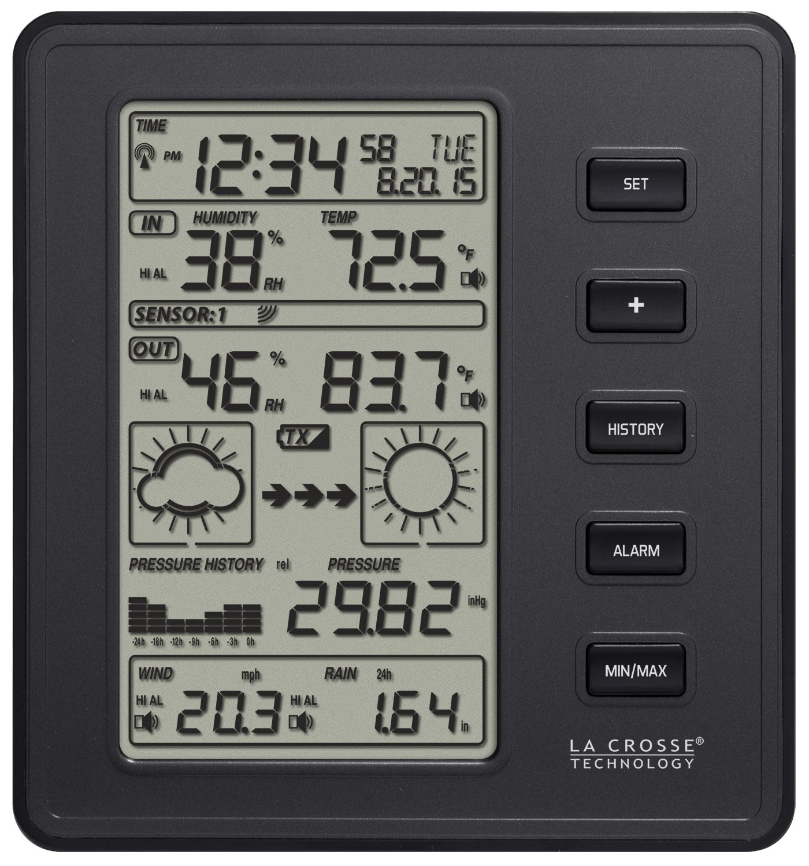 La Crosse Technology 308-2316 Professional Weather Station, Black Ltd.
