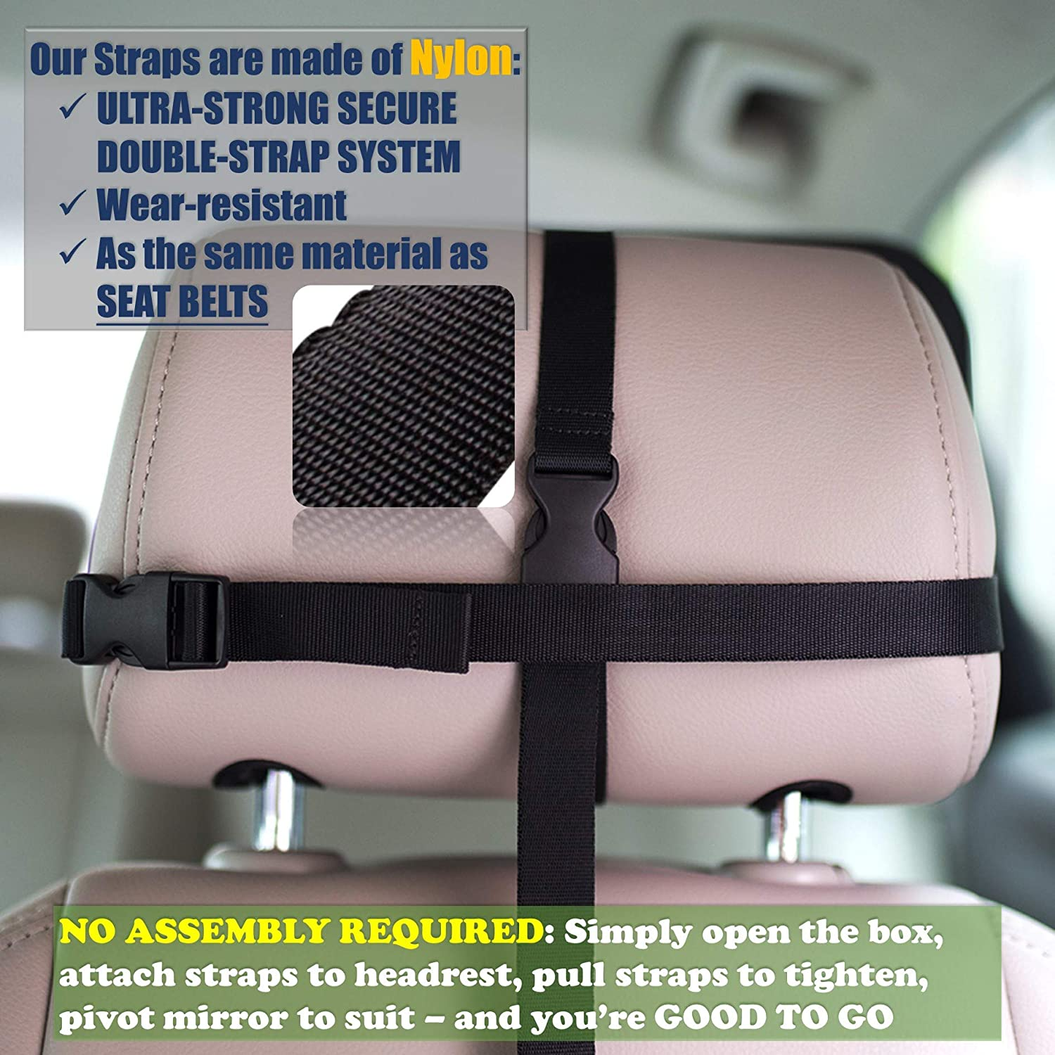 Purple Paws Shatterproof Car Back Seat Mirror for Newborn Baby Infants Kids Children Toddlers Boys - Safety Certified /& Crash Tested Crystal Clear Rear Facing Baby Mirror Baby Car Mirror