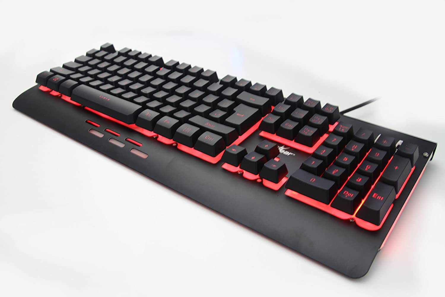 Redgear Blaze 3 colour backlit gaming keyboard with full aluminium body & windows key lock