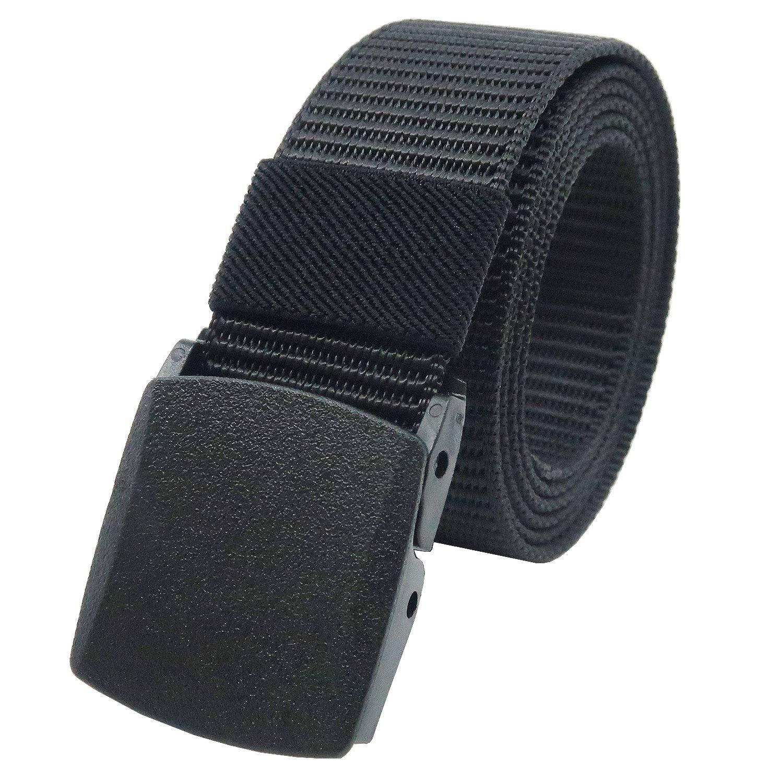 YEHMAN Cintur/ón militar de lona de nailon ajustable 120 cm hebilla de pl/ástico sin n/íquel antialergia