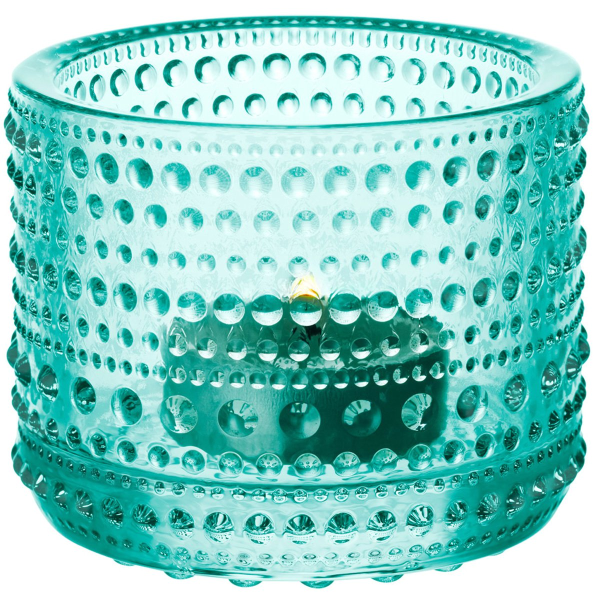 Iittala Kastehelmi Windproof Candle Holder Standard wassergrün 005982