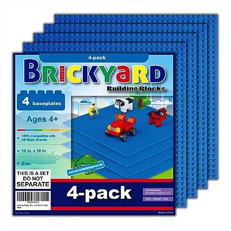 17 Pieces Lego Compatible Toys & Hobbies New Brictek Base Plates Multi Sizes Blue