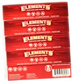 5 booklets - Elements RED King Size Slim Slow Burn Hemp Rolling Paper