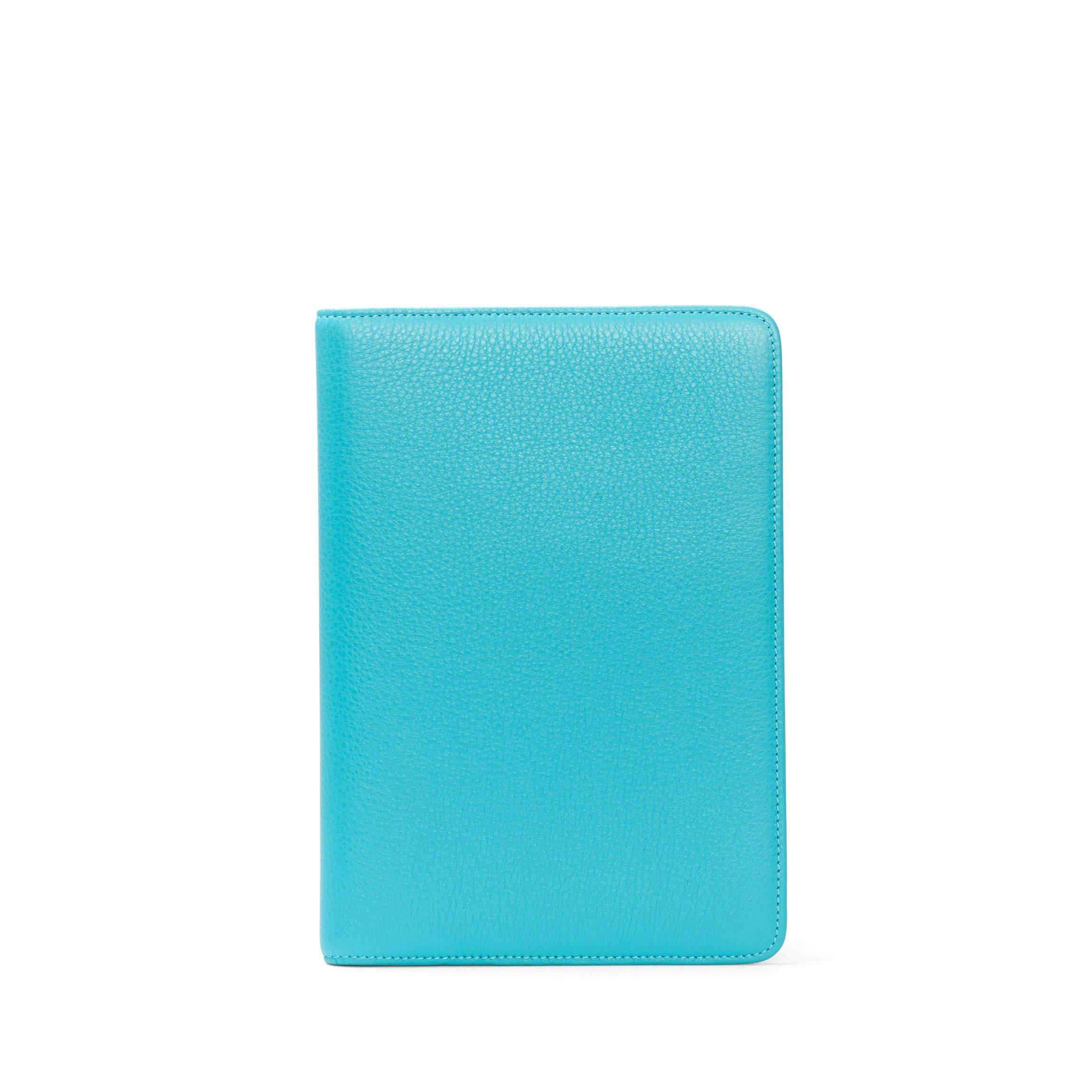Medium Journal - Full Grain Leather - Teal (blue)