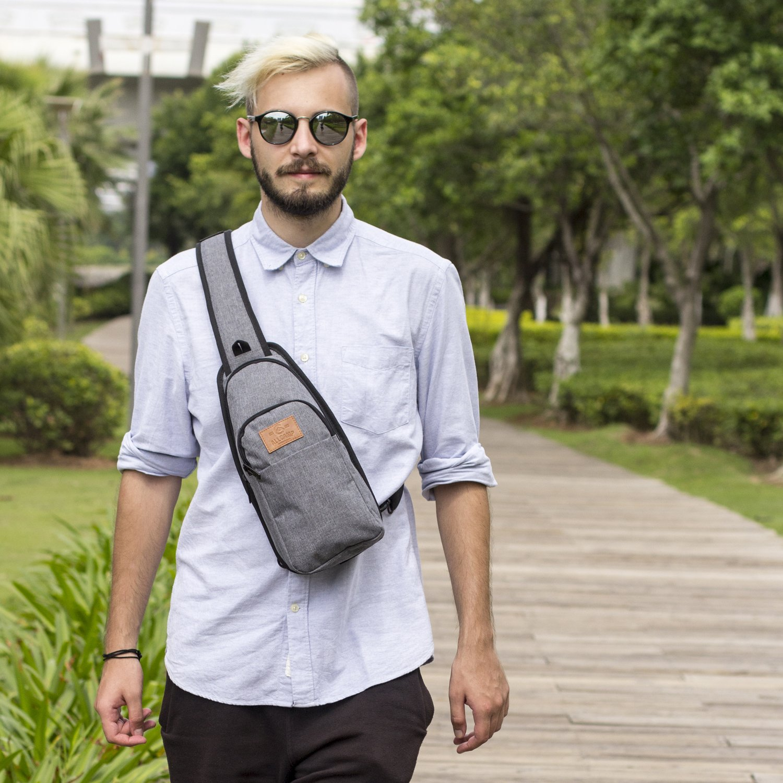 ALLCAMP Sling Bag Chest Shoulder Unbalance Gym Fanny Backpack Sack Satchel Outdoor Bike nylon fabric multicolored