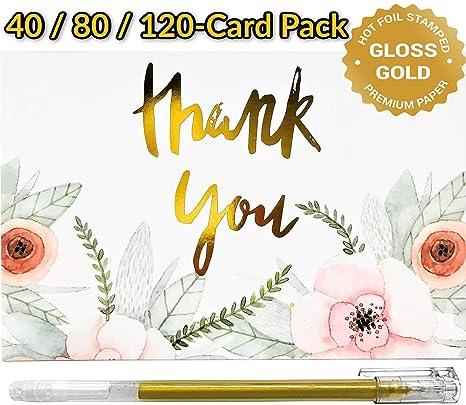 Amazon.com: Tarjetas de agradecimiento con sobres | Juego de ...