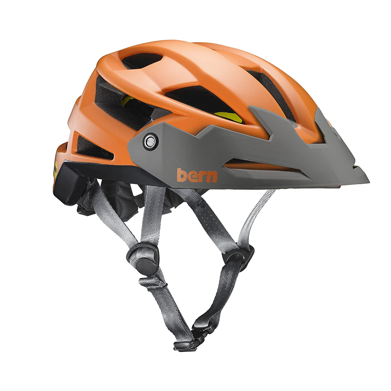 Bern Matte Burnt Orange 2017 FL-1 XC Zipmold with MIPS MTB Helm