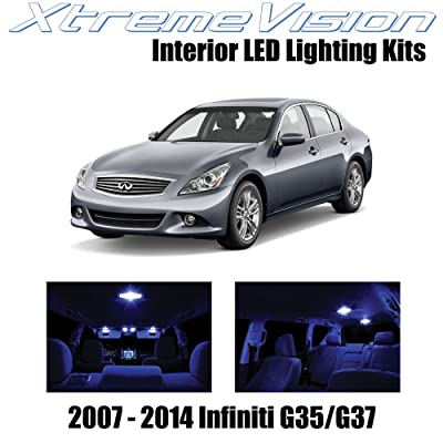 XtremeVision Interior LED for Infiniti G35 G37 Sedan 2007-2014 (10 Pieces) Blue Interior LED Kit + Installation Tool: Automotive