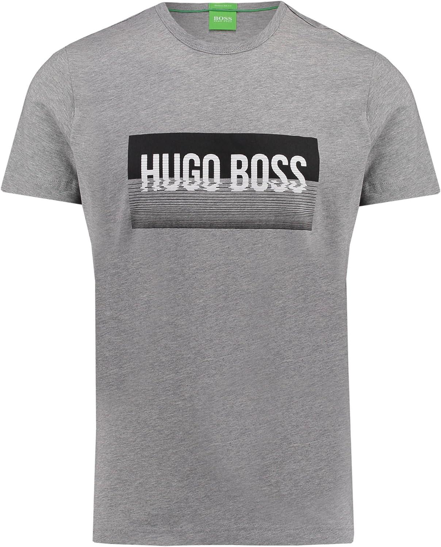 BOSS Green Hombres Camiseta regular Fit Tee 1 Gris Claro XXL: Amazon.es: Ropa y accesorios