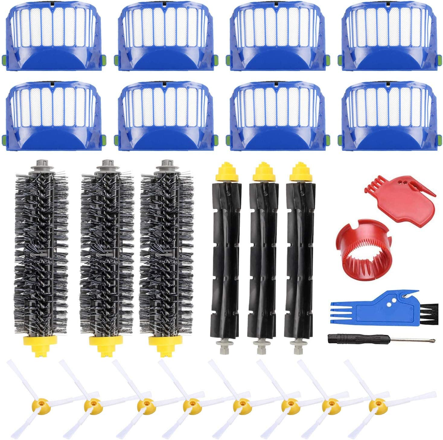 PIGUOAT Replacement Accessories Kit for iRobot Roomba 600 Series & 500 Series Parts, Replacement Brush Parts Accessories for Roomba 618 620 650 651 660 680 690 536 551 552 564 585 589 595 Vac Parts