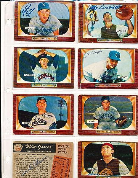 John Dixon Kansas City Athletics 211 Signed 1955 Bowman Baseball