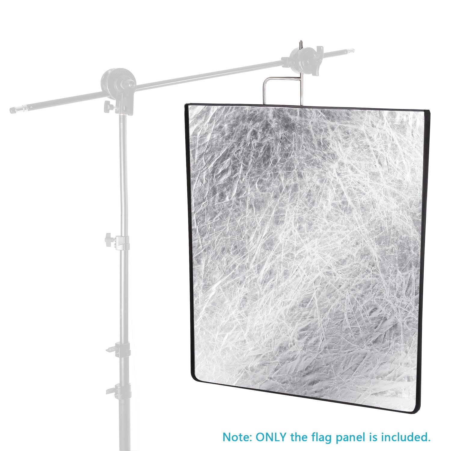 Neewer 30x36 inches 4-in-1 Metal Flag Panel Set Reflector with Soft White, Black, Silver and Gold Cover Cloth for Photo Video Studio Photography by Neewer (Image #6)