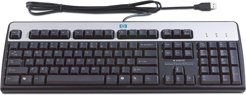 HP Teclado USB HP estándar USB Standard Keyboard, 0.9 kg (1.98 libras) (AZERTY) [importado de Francia]