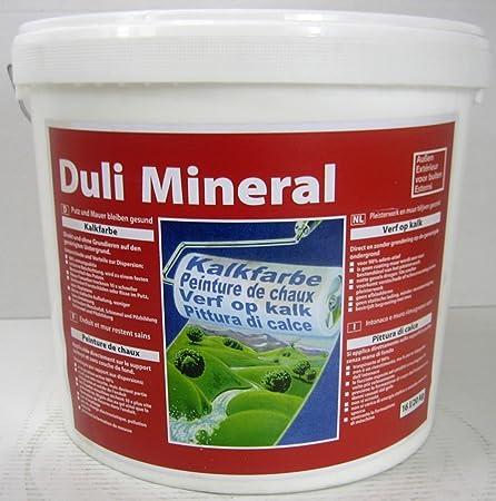 Duli Mineral Peinture Calcaire Exterieur 16 L 20 Kg Amazon Fr Bricolage