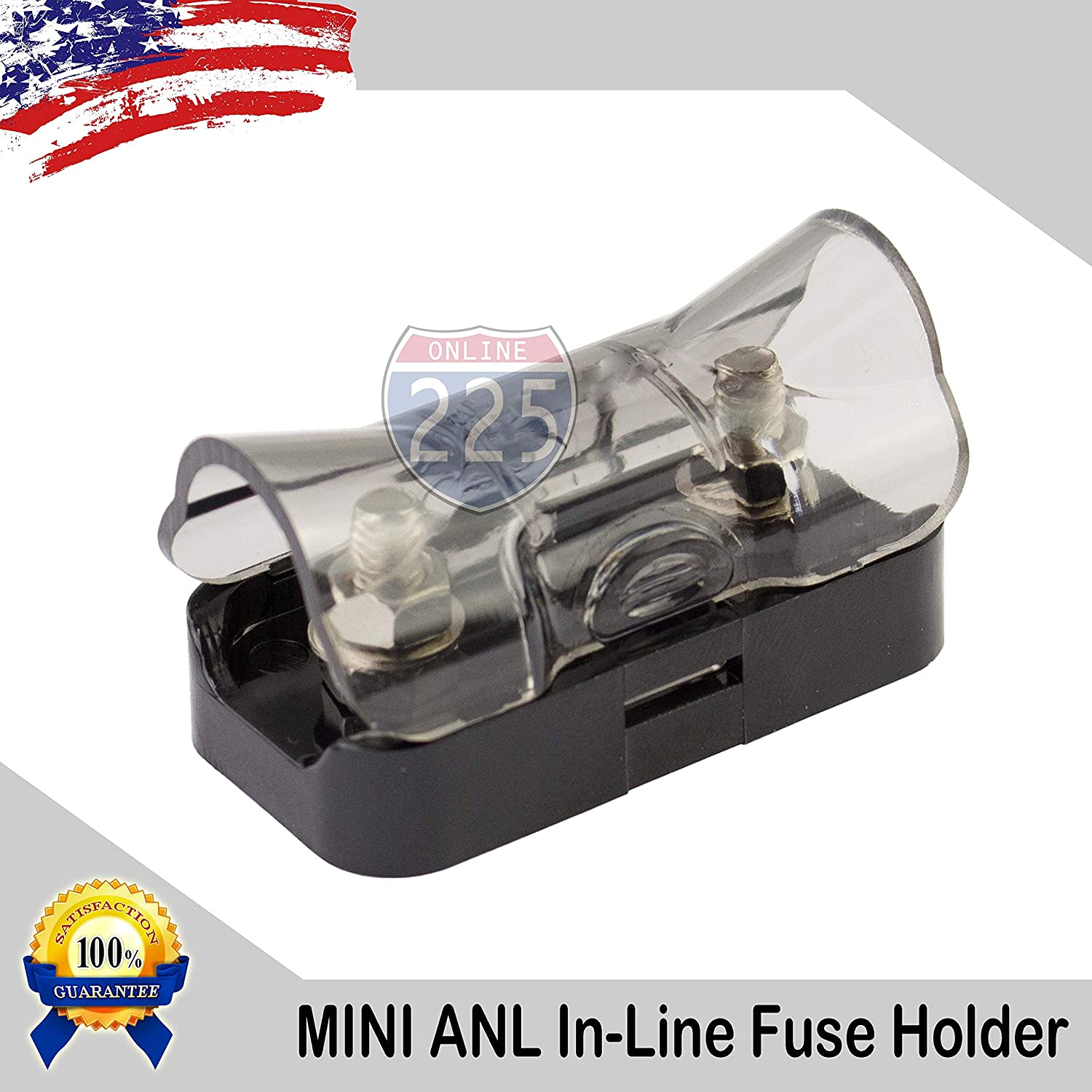 225fwy Platinum Car Stereo Mini Anl In Line Fuse Holders The Game Box With 4 8 Gauge Inputs Outputs Automotive