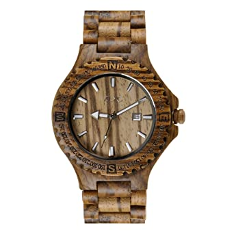 men s natural zebrawood quartz calendar wrist watch wooden watch men s natural zebrawood quartz calendar wrist watch wooden watch fathers day gift