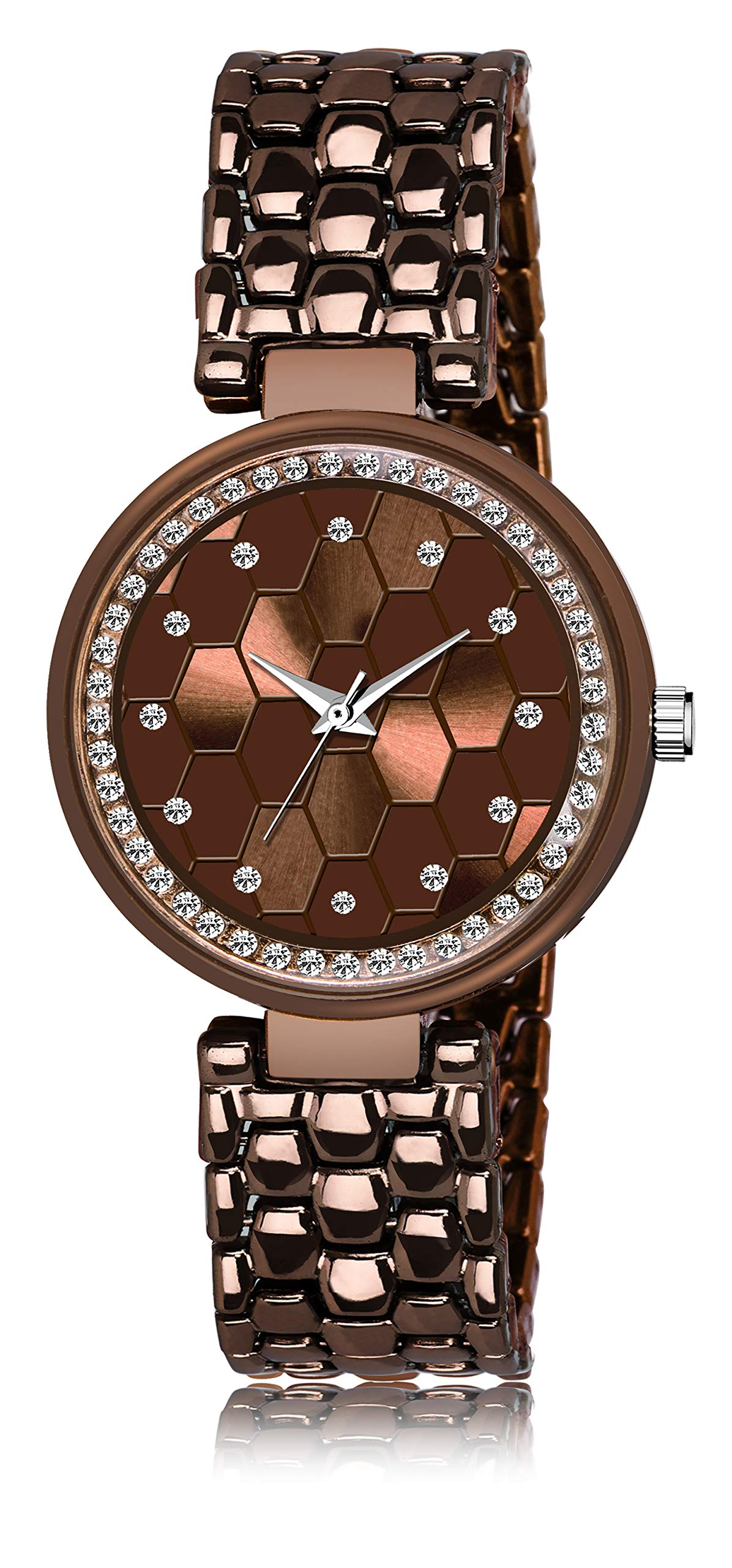 LegendDeal Analogue Brown Watches for Girl's & Women's (B07VSPBFF6) Amazon Price History, Amazon Price Tracker