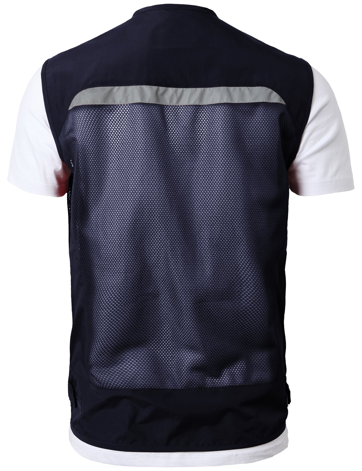 H2H Mens Casual Work Utility Hunting Fishing Vest Travels Sports Mesh Jacket with Multi-Pockets Navy US L/Asia XL (KMOV0144) by H2H (Image #3)