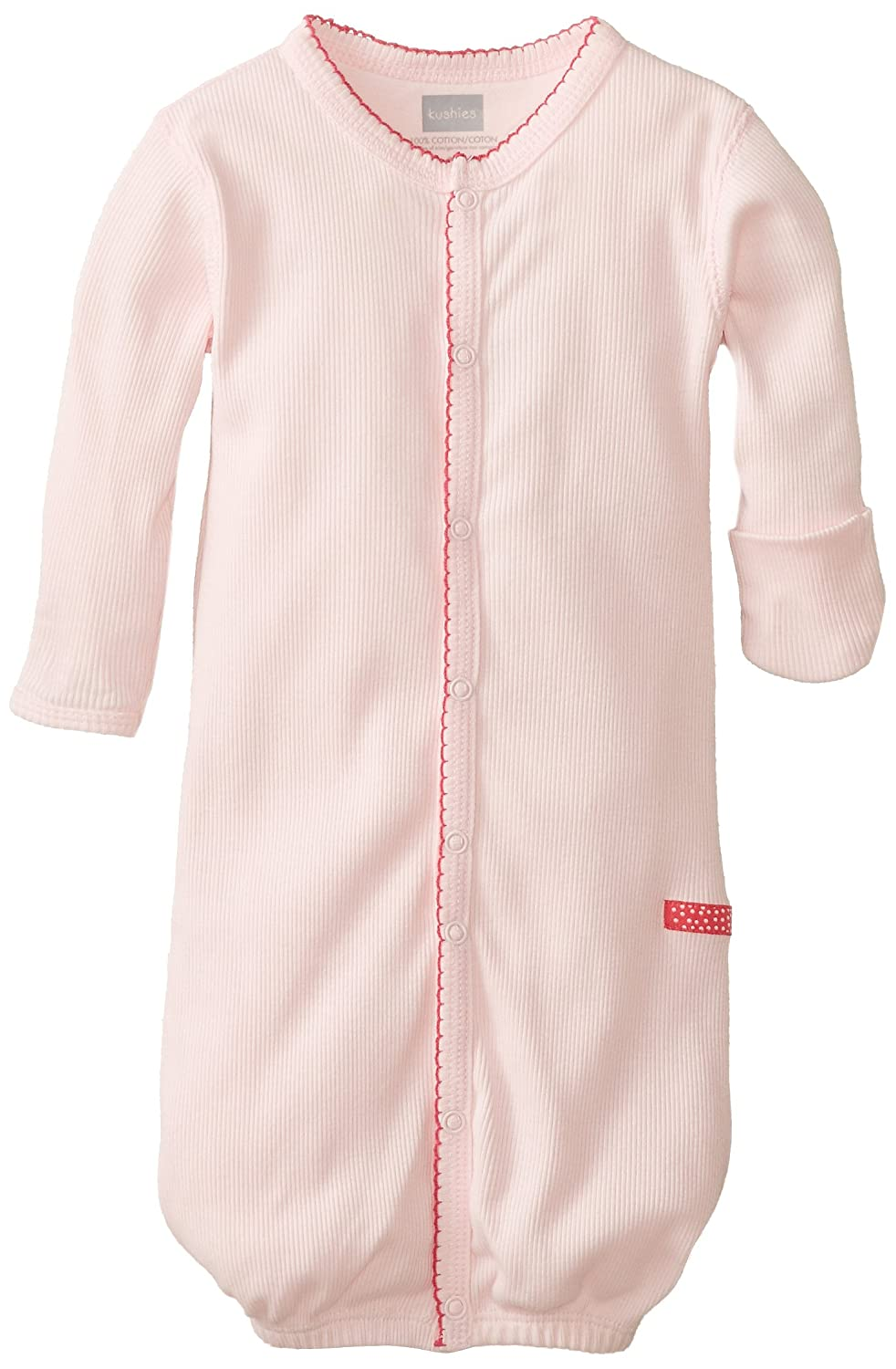 Kushies Baby-Girls Newborn Gown and Hat Set Bedtime Stories