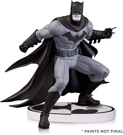 DC Comics Batman Black//White Statue Bryan Hitch Limited Ed Comic Hero Figure