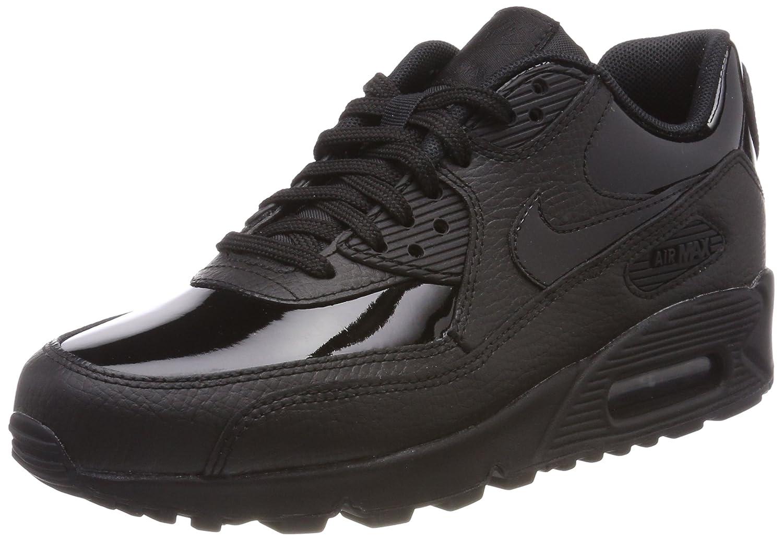Nike Wmns Air MAX 90 Lea, Zapatillas de Trail Running para Mujer 37.5 EU|Negro (Black/Black/Black 002)