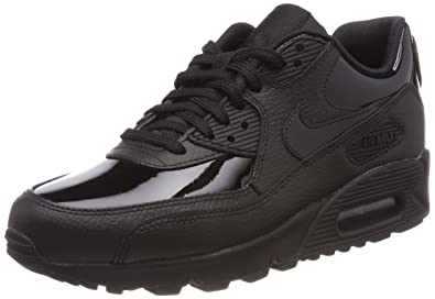 NIKE WMNS Air Max 90 Leather, Chaussures de Gymnastique Femme, Noir Black 002,