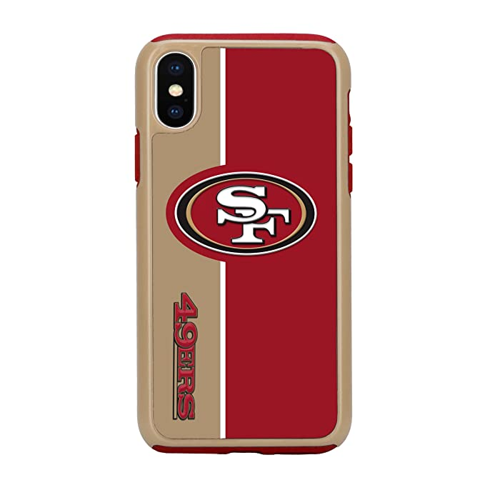 7aecec764de Image Unavailable. Image not available for. Color  Forever Collectibles  iPhone X Dual Hybrid Bold Case - NFL San Francisco 49Ers