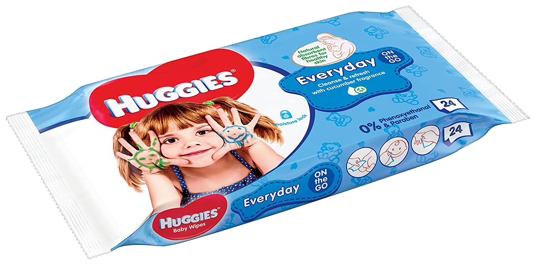 Huggies HandsTravel Pack - Toallitas para bebé, 24 unidades: Amazon.es: Amazon Pantry