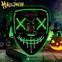 Halloween Led Máscaras,Mascara Luminosa Purga Mascara Led Mask 3 Modos de Iluminacion para Halloween Navidad Cosplay…