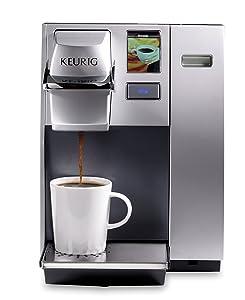 KeurigK155 Office Pro Single Cup Commercial K-Cup Pod Coffee Maker, Silver (Renewed)