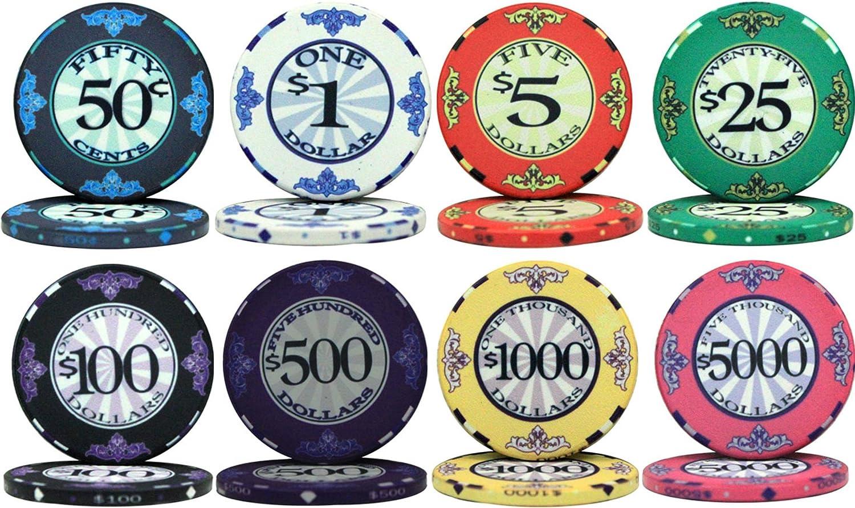 スクロールデザイン セラミック 10gm 500バルクポーカーチップ - チップをお選びください。