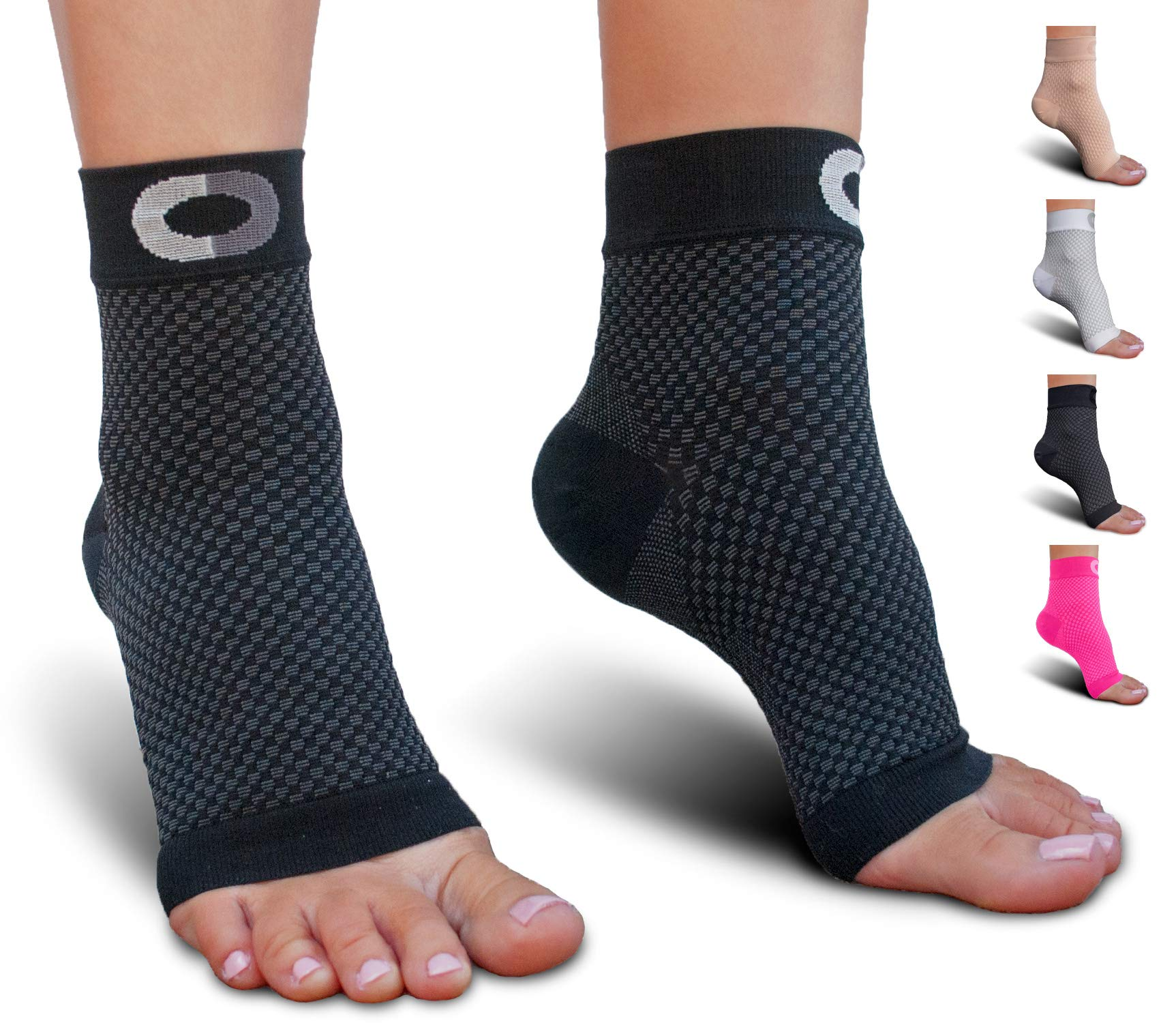 9605db81e0f Plantar Fasciitis Socks with Arch Support for Men & Women - Best Ankle  Compression Socks for Foot and Heel Pain Relief - Better Than Night Splint  Brace, ...