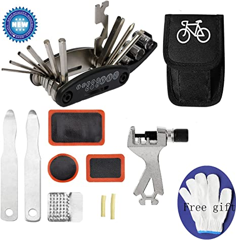 Kit de reparación de bicicleta, kit de herramientas para bicicleta ...