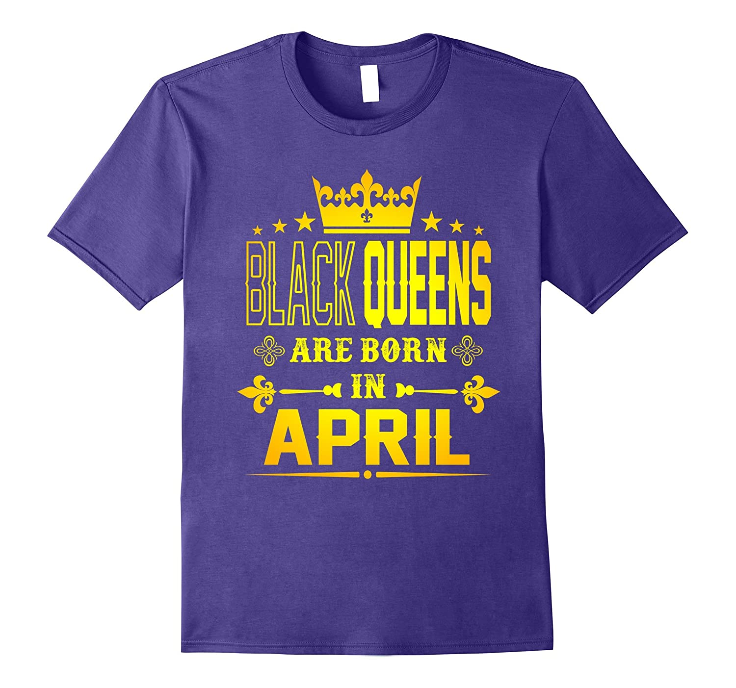 Black Queens Are Born In April shirt-TH